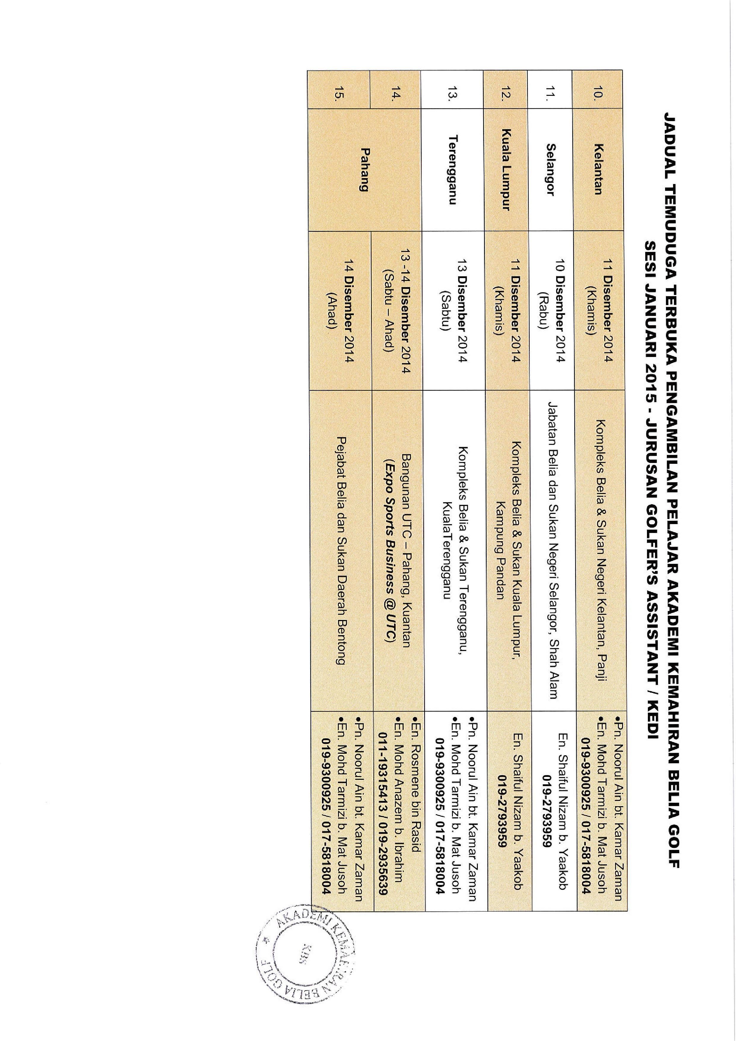 2.Jadual TERBARU Temuduga Pengambilan Pelajar AKBG Jan 2015